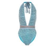 Neckholder-Badeanzug aus Strick