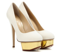 Plateau-Pumps Dolly aus Canvas