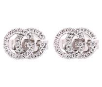 Ohrringe Running G aus 18kt Weißgold mit Diamanten