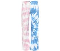 Paula's Ibiza Bedruckte Mid-Rise Straight Jeans