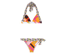 Triangel-Bikini mit Print