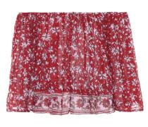 Schulterfreies Cropped Top aus Baumwolle
