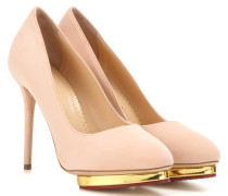 Plateau-Pumps Dotty 110 aus Veloursleder
