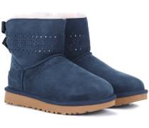 Ankle Boots Dae Sunshine Perf aus Veloursleder