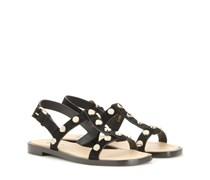 Veloursleder-Sandalen mit Nieten