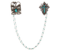 Halskette aus Sterling-Silber mit Broschenanhänger