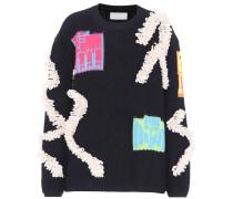 Pullover mit Wolle und Baumwolle