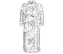 Bedrucktes Hemdblusenkleid aus Seide