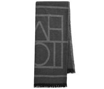Schal aus Wolle und Kaschmir mit Logo