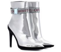 Ankle Boots aus Metallic-Leder