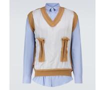 Hemd aus Baumwollpopeline und Schurwolle