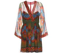 Kleid aus Seidenchiffon mit Print