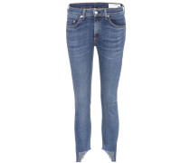 Cropped Jeans Capri aus Stretchdenim