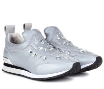 Verzierte Sneakers Laney aus Metallic-Leder