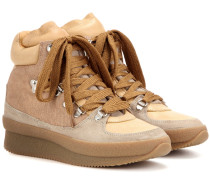 Étoile Brent Ankle Boots aus Leder und Veloursleder