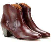 Étoile Dicker Ankle Boots aus Leder