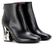 Verzierte Ankle Boots Ora Palm aus Leder