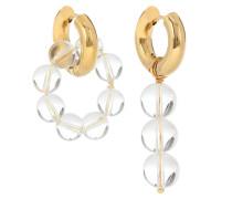 Vergoldete Ohrringe mit Glasperlen