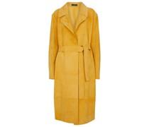 Mantel June aus Veloursleder