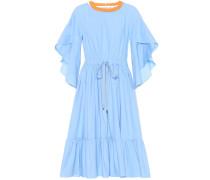 Kleid aus Baumwolle mit Volants