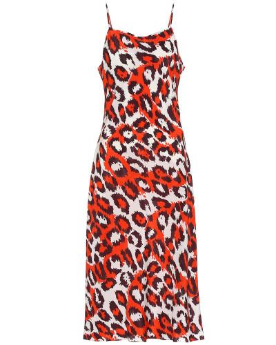 Bedrucktes Kleid Lespo aus Seide