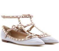 Garavani Ballerinas Rockstud aus Lackleder