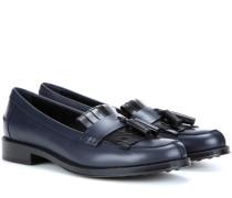 Loafers Frangia aus Leder