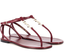 Sandalen Nu Pieds 05 Monogram aus Leder