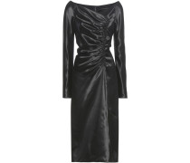Drapiertes Kleid aus Satin