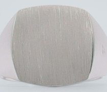 Sterlingsilber-Ring Cushion Satin