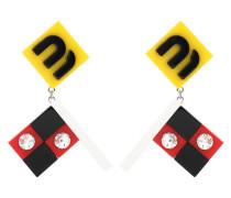 Verzierte Clip-Ohrringe aus Plexi