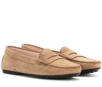 Loafers City Gommino aus Veloursleder