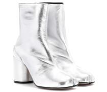 Ankle Boots Tabi aus Metallic-Leder
