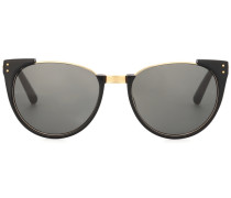 Sonnenbrille Upside Down Browline mit Goldlegierung