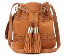 Bucket-Bag Vicki Small aus Velours- und Glattleder