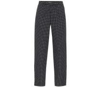 Hose aus Baumwolle mit Polka-Dots