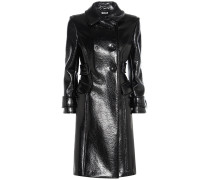 Mantel aus glänzendem Lederimitat
