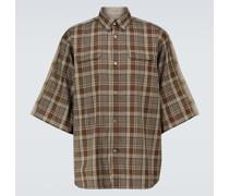 Kariertes Kurzarmhemd aus Baumwolle