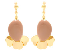 Goldfarbene Ohrringe mit Harz