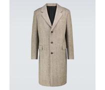 Einreihiger Mantel aus Wolle