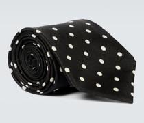 Krawatte aus Seide mit Polka-Dots