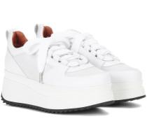 Plateau-Sneakers Naomi aus Leder