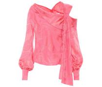 Asymmetrische Bluse aus Jacquard