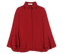 Cape-Bluse aus Seide