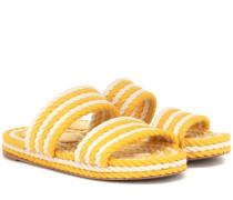 Sandalen aus Baumwolle