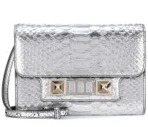 Schultertasche PS11 Wallet aus Metallic-Leder