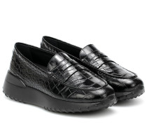 Plateau-Loafers Gommino aus Leder