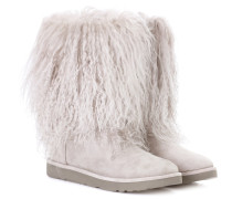 Ankle Boots Lida aus Veloursleder und Shearling