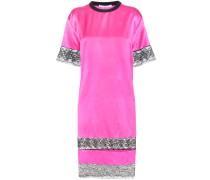 Kleid aus Seide mit Spitzenbesatz
