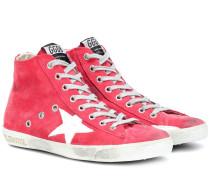 Sneakers France aus Veloursleder